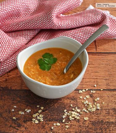 Sopa de avena estilo mexicano. Receta sencilla y nutritiva