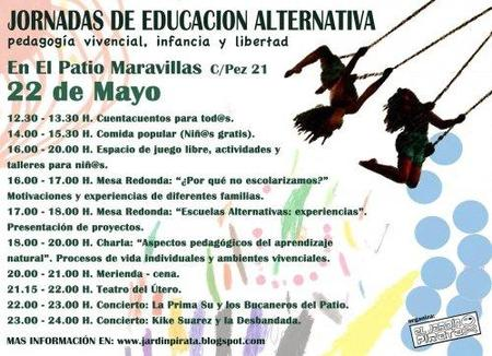 Jornada de Educación Alternativa en Madrid