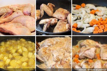 Pollo a la crema - elaboración