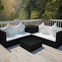 Conjuntos de sofás para terrazas y jardines que puedes comprar por menos de 500 euros
