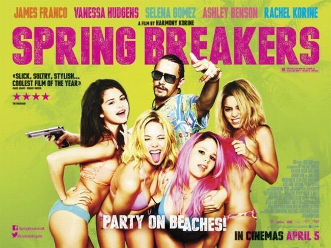 Un póster de Spring Breakers