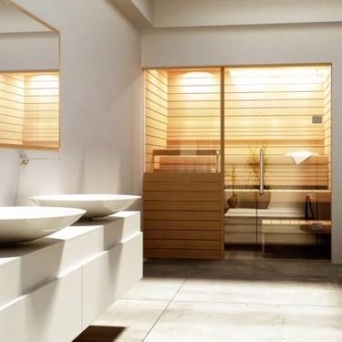 Saunas finlandesas que se integran en el baño y se montan en una mañana