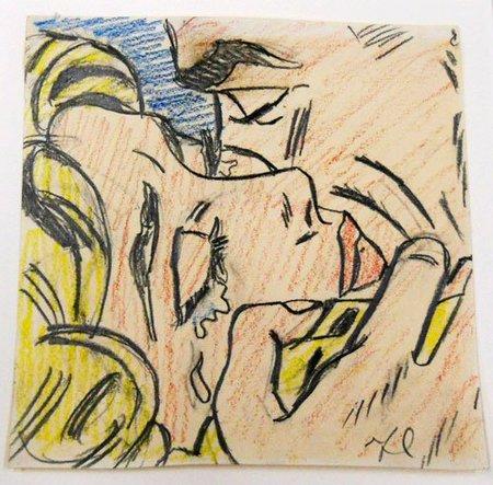"""La obra """"Drawing for Kiss V"""" de Roy Lichtenstein alcanzó los 2 millones de dólares en Christie's NY"""