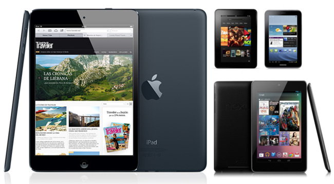 iPad mini vs. Nexus 7 vs. Kindle Fire vs. Galaxy Tab 2 7.0