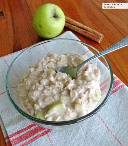 receta saludable con avena y manzana