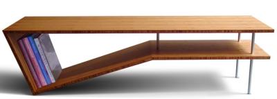 Slim Slant, mesa de bambú para tomar café