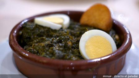 Restaurante villalar - espinacas esparragás