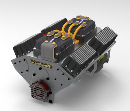 Motor V8 eléctrico