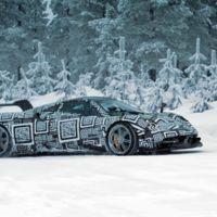 Siéntate y disfruta del Pagani Huayra BC camuflado bailando sobre la nieve