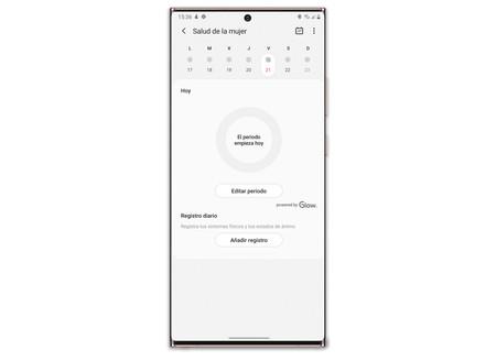 Samsung Galaxy Note 20 Ultra Watch 3 Salud Mujer