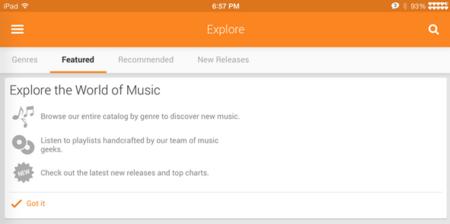 Google Play Music para iPad podría llegar muy pronto