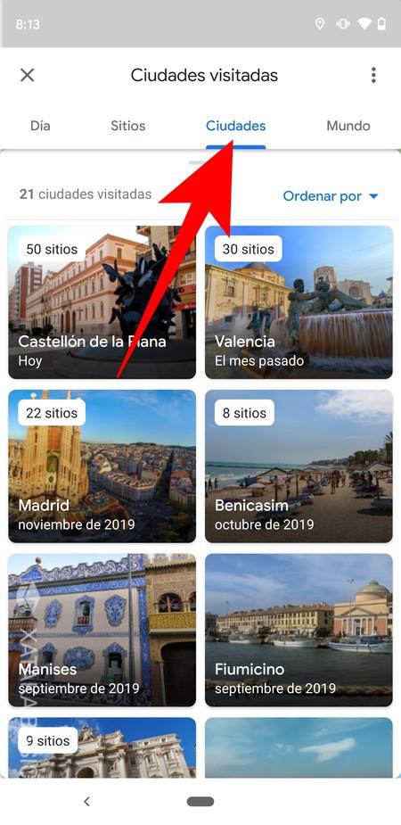 Historial Ciudades