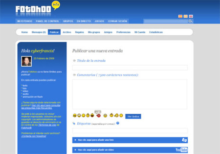 Fotohoo, nuevo servicio camino entre los fotologs y tumblelogs