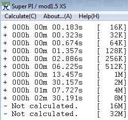 Super Pi en modo Turbo