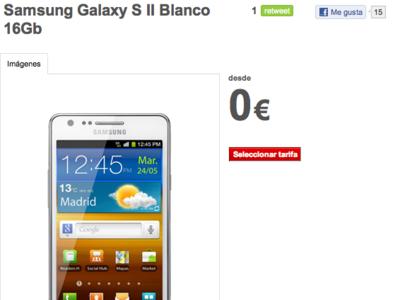 ¿Buscáis un Samsung Galaxy S2 blanco? Vodafone lo tiene