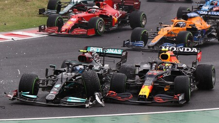 Bottas Perez Hungria F1 2021