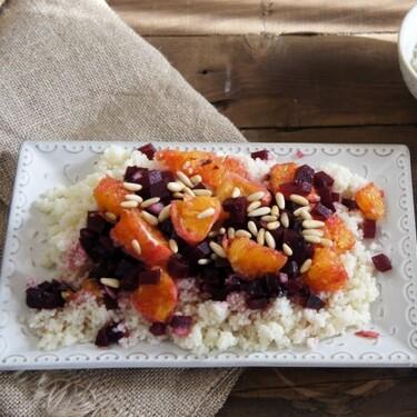 Ensalada de cuscús con naranja y remolacha: receta versátil también como guarnición