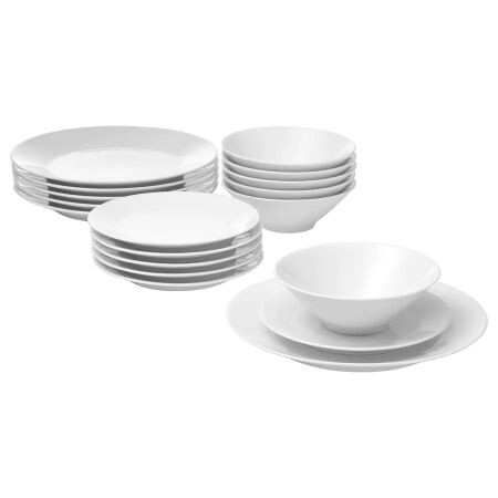 Ikea 365 Vajilla 18 Piezas Blanco 0720485 Pe732584 S5