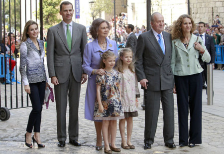Familia Real en Misa de Pascua