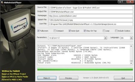 Crea vídeos autoejecutables con MakeInstantPlayer