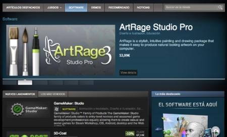 Steam da sus primeros pasos como tienda de software general con siete aplicaciones