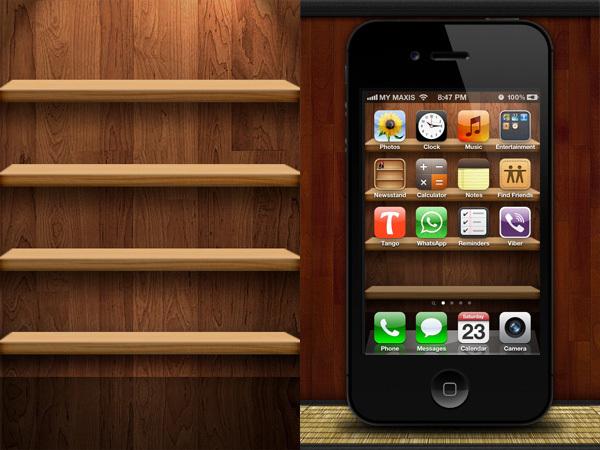 Fondo para el iPhone de madera