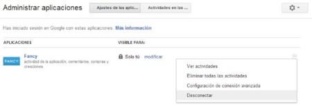 Administración de las aplicaciones de Google+