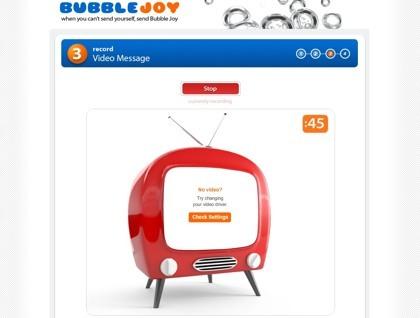 Bubble Joy, postales electrónicas de vídeo