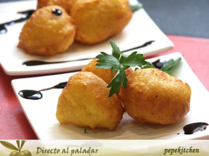 Receta de buñuelos de calabaza y parmesano