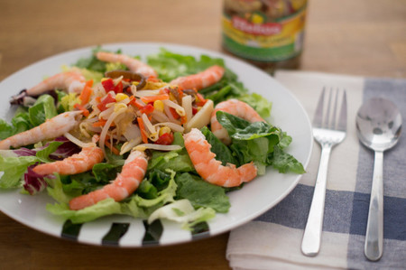 Receta de ensalada tailandesa con gambas