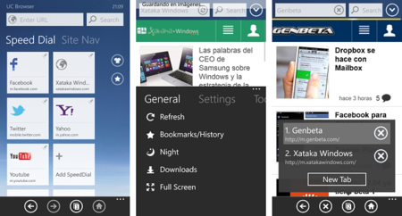 UC Browser, un navegador alternativo para Windows Phone. La aplicación de la semana