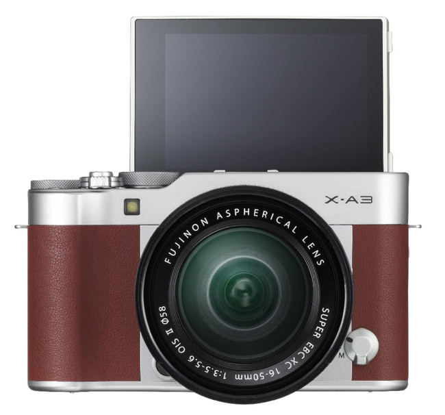 Fuji X A3 Brown 16 50mm Front Tilt180