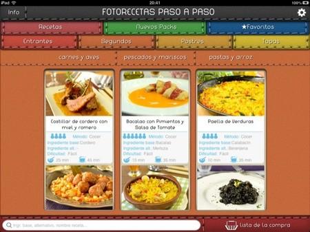 Photo recipe step by step (recetas paso a paso) es una aplicación para dispositivos móviles que cumple con la dieta mediterránea