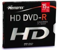 Discos vírgenes HD-DVD de Memorex