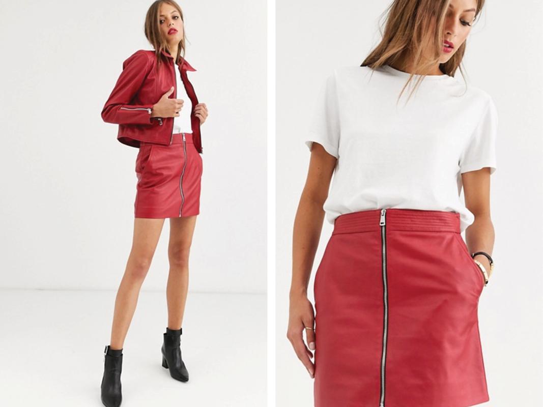 Minifalda con cremallera de Lab Leather