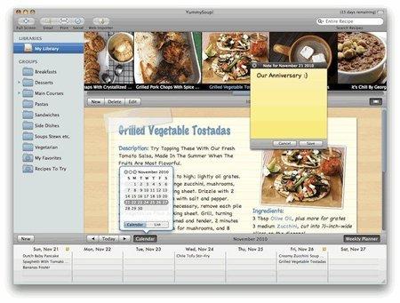 YummySoup, un programa para ordenar tus recetas