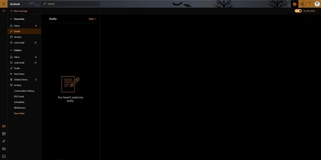 El modo oscuro sigue ampliando sus dominios y ahora prepara su  inminente llegada a Outlook.com