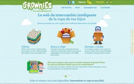 Grownies es un sitio en Internet para intercambiar ropa de los peques entre 0 y 8 años