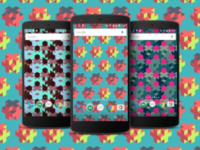 Patterns es una original vuelta de rosca a los fondos de pantalla geométricos