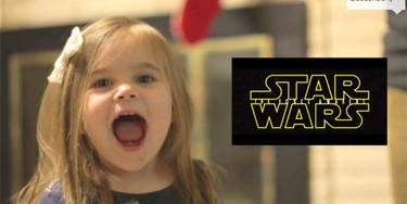 La felicidad de una niña de tres años viendo el trailer de Star Wars