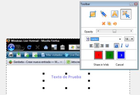 Jet Screenshot, una aplicación sencilla para tomar capturas de pantalla