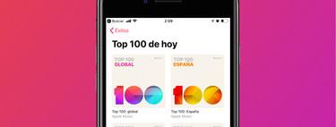 Llegan a Apple Music los Top 100: lo más reproducido de cada región o país, actualizado a diario