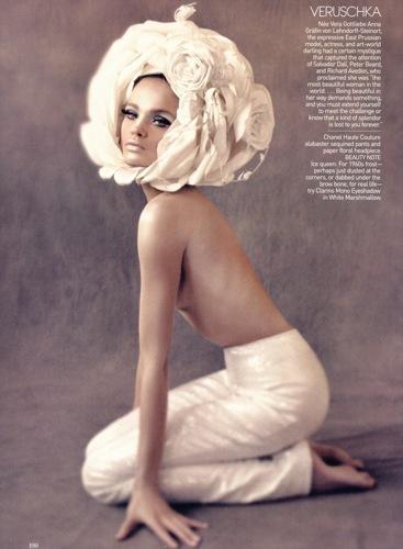 Natalia Vodianova para Vogue US, Veruschka
