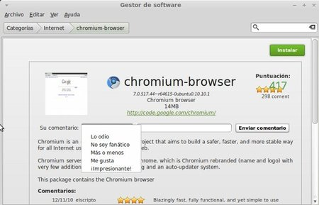 Gestor de software Linux Mint