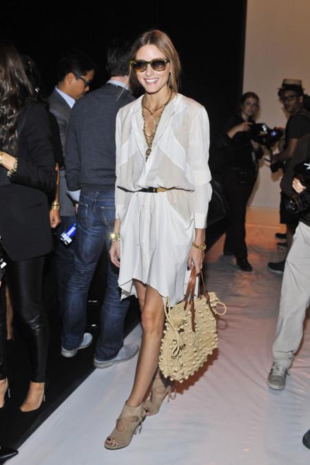 Olivia Palermo con zapatos Aquazzura