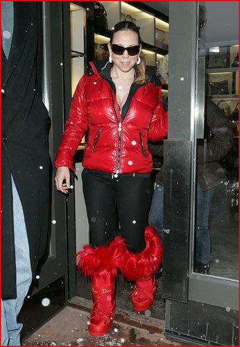 Mariah Carey y su look de esquí