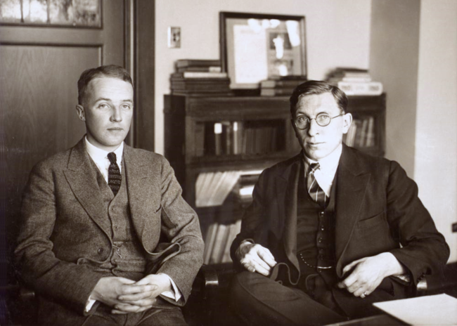 C H Best And F G Banting Ca 1924