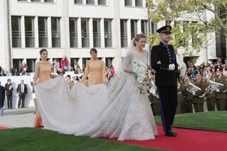 Vestido de novia de la princesa de Luxemburgo firmado por Elie Saab