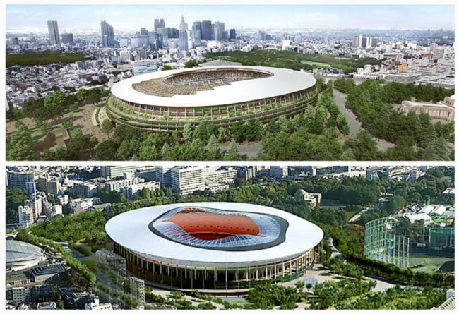 Estas son las dos propuestas de Estadio Olímpico para Tokio 2020, esperemos que no ocurra como en 'Akira'