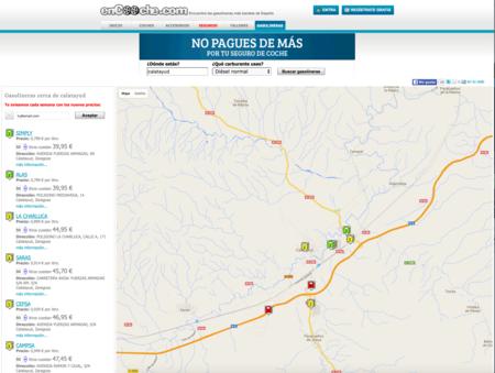 Web para conocer precios de gasolina